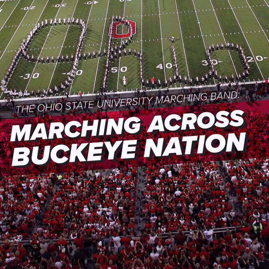 Marching Across Buckeye Nation CD cover